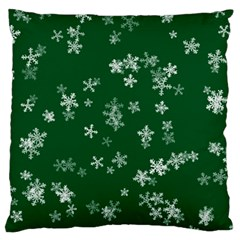 Template Winter Christmas Xmas Large Cushion Case (one Side)