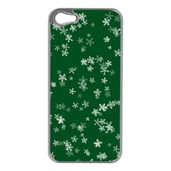 Template Winter Christmas Xmas Apple Iphone 5 Case (silver)