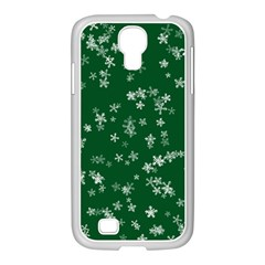 Template Winter Christmas Xmas Samsung Galaxy S4 I9500/ I9505 Case (white)