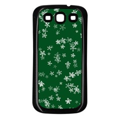 Template Winter Christmas Xmas Samsung Galaxy S3 Back Case (black)