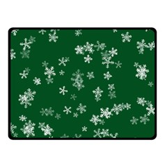 Template Winter Christmas Xmas Double Sided Fleece Blanket (small)