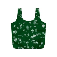 Template Winter Christmas Xmas Full Print Recycle Bag (s)