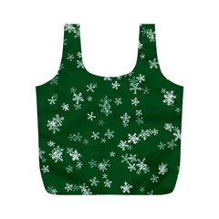 Template Winter Christmas Xmas Full Print Recycle Bag (m)