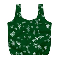 Template Winter Christmas Xmas Full Print Recycle Bag (l)