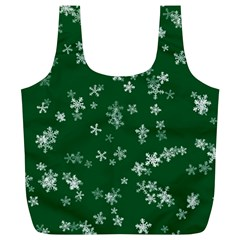 Template Winter Christmas Xmas Full Print Recycle Bag (xl)