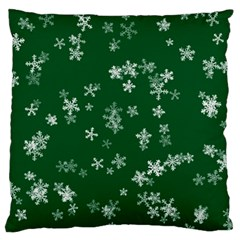Template Winter Christmas Xmas Large Flano Cushion Case (two Sides)
