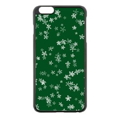Template Winter Christmas Xmas Apple Iphone 6 Plus/6s Plus Black Enamel Case