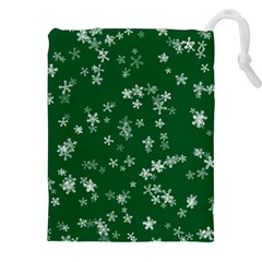 Template Winter Christmas Xmas Drawstring Pouch (xxl)