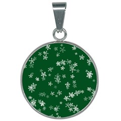 Template Winter Christmas Xmas 25mm Round Necklace