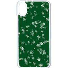 Template Winter Christmas Xmas Apple Iphone Xs Seamless Case (white)