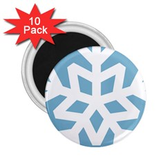 Snowflake Snow Flake White Winter 2 25  Magnets (10 Pack)