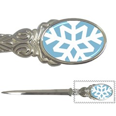 Snowflake Snow Flake White Winter Letter Opener