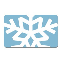 Snowflake Snow Flake White Winter Magnet (rectangular)