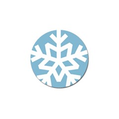 Snowflake Snow Flake White Winter Golf Ball Marker (10 Pack)