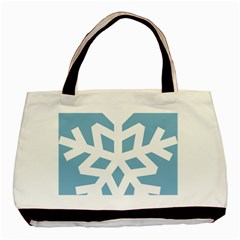 Snowflake Snow Flake White Winter Basic Tote Bag