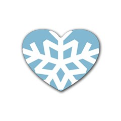 Snowflake Snow Flake White Winter Heart Coaster (4 Pack)