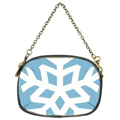 Snowflake Snow Flake White Winter Chain Purse (one Side)