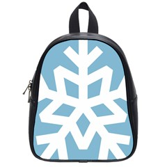 Snowflake Snow Flake White Winter School Bag (small)