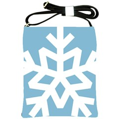 Snowflake Snow Flake White Winter Shoulder Sling Bag