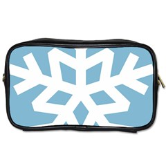 Snowflake Snow Flake White Winter Toiletries Bag (one Side)