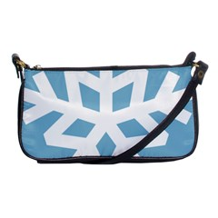 Snowflake Snow Flake White Winter Shoulder Clutch Bag