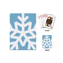 Snowflake Snow Flake White Winter Playing Cards (mini)