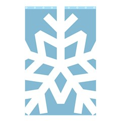 Snowflake Snow Flake White Winter Shower Curtain 48  X 72  (small)