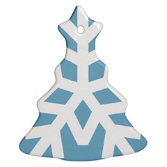 Snowflake Snow Flake White Winter Christmas Tree Ornament (two Sides)