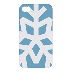Snowflake Snow Flake White Winter Apple Iphone 4/4s Premium Hardshell Case