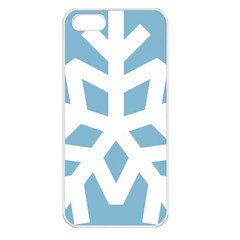 Snowflake Snow Flake White Winter Apple Iphone 5 Seamless Case (white)