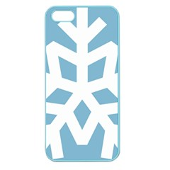 Snowflake Snow Flake White Winter Apple Seamless Iphone 5 Case (color)