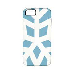 Snowflake Snow Flake White Winter Apple Iphone 5 Classic Hardshell Case (pc+silicone)
