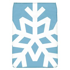 Snowflake Snow Flake White Winter Removable Flap Cover (l)