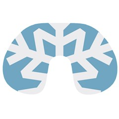 Snowflake Snow Flake White Winter Travel Neck Pillows