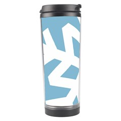 Snowflake Snow Flake White Winter Travel Tumbler