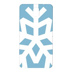 Snowflake Snow Flake White Winter Samsung Galaxy Note 3 N9005 Hardshell Back Case