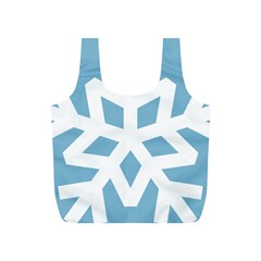 Snowflake Snow Flake White Winter Full Print Recycle Bag (s)