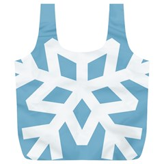 Snowflake Snow Flake White Winter Full Print Recycle Bag (xl)
