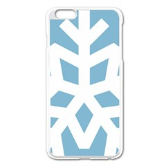 Snowflake Snow Flake White Winter Apple Iphone 6 Plus/6s Plus Enamel White Case
