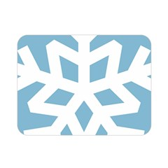 Snowflake Snow Flake White Winter Double Sided Flano Blanket (mini)