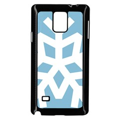 Snowflake Snow Flake White Winter Samsung Galaxy Note 4 Case (black)