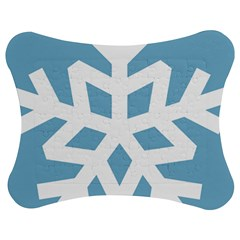 Snowflake Snow Flake White Winter Jigsaw Puzzle Photo Stand (bow)