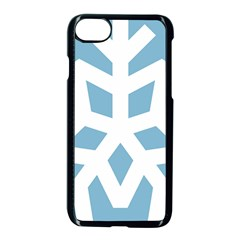 Snowflake Snow Flake White Winter Apple Iphone 7 Seamless Case (black)