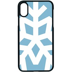 Snowflake Snow Flake White Winter Apple Iphone X Seamless Case (black)