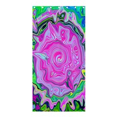 Groovy Pink, Blue And Green Abstract Liquid Art Shower Curtain 36  X 72  (stall)