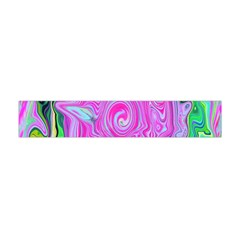 Groovy Pink, Blue And Green Abstract Liquid Art Flano Scarf (mini) by myrubiogarden