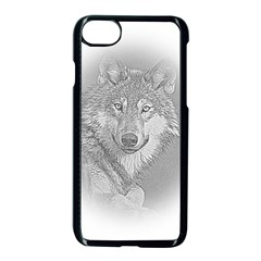 Loup Apple Iphone 8 Seamless Case (black) by alllovelyideas