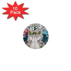 Happysnowman 1  Mini Buttons (10 Pack)
