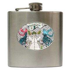 Happysnowman Hip Flask (6 Oz) by chellerayartisans