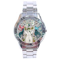 Happysnowman Stainless Steel Analogue Watch